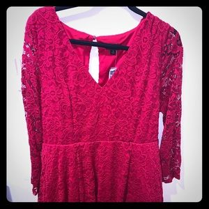 Red Lace Torrid Dress Size 1 or 14/16